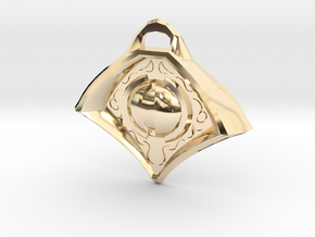Eye Medallion1 in 14K Yellow Gold