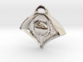 Eye Medallion1 in Rhodium Plated Brass