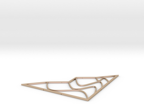 one-sixteenth-inch-3-half inches wide in 14k Rose Gold Plated Brass