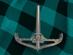 Longboat Cross-section Thor's Hammer in Polished Bronzed Silver Steel