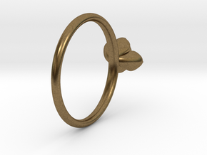 Succulent Stacking Ring No. 1 in Natural Bronze: 5 / 49