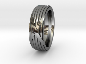 Fasces Ring - Size 12 in Fine Detail Polished Silver