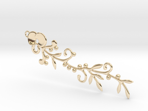Alla Floria Simplis in 14k Gold Plated Brass