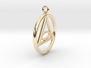 Eye Necklace Small in 14K Yellow Gold