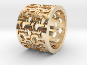 Plot Ring - Male in 14K Yellow Gold: Small