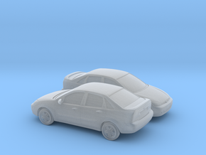 1/160 2X  2000-04 Ford Focus Sedan in Smooth Fine Detail Plastic