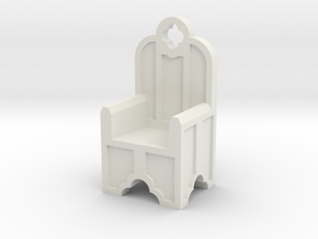 Gothic Chair Type 2 in White Natural Versatile Plastic