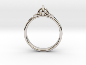 Ring for Joanne, Size H 1/2 in Rhodium Plated Brass