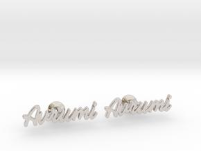 Custom Name Cufflinks - Avrumi in Rhodium Plated Brass
