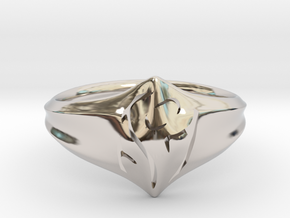 Mom Ring in Rhodium Plated Brass