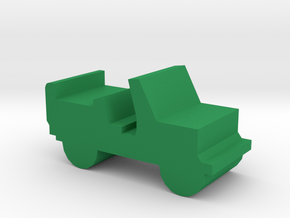 Game Piece, Jeep in Green Processed Versatile Plastic