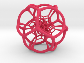 0501 Stereographic Polychora - 120 cell (11cm) in Pink Strong & Flexible Polished