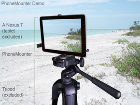 Samsung Galaxy Tab S2 9.7 tripod mount in Black Natural Versatile Plastic
