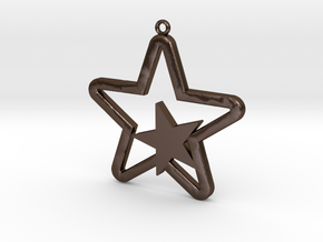 Star Pendent in Polished Bronze Steel