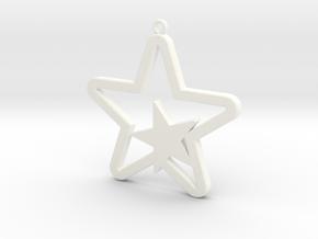 Star Pendent in White Processed Versatile Plastic