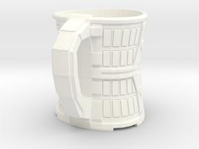 Coffee Mug in White Processed Versatile Plastic