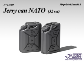 1/72 Jerry can NATO (32 set) in Smooth Fine Detail Plastic
