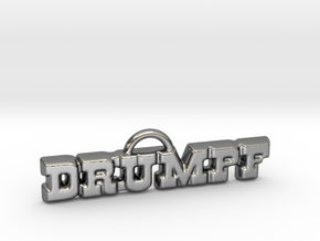 Drumpf Pendant in Fine Detail Polished Silver