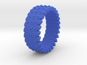 Ø0.699 Inch Fractal Ring Model C Ø17.75 Mm in Blue Processed Versatile Plastic