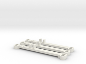 Kyosho MiniZ MR02 Toe Bars in White Natural Versatile Plastic