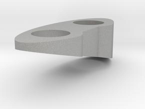 Top Piece - Left - Solid 15 Deg in Raw Aluminum