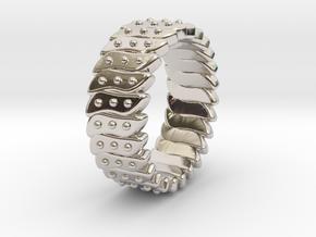Ø0.646 Fractal Ring Model C Ø16.41 Mm in Platinum