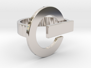 Power Button Ring - 20 mm in Platinum