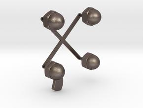 Punctuation - Colon & Semi Colon in Polished Bronzed Silver Steel