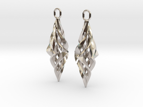 Vision Earrings in Rhodium Plated Brass
