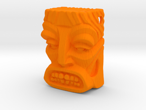 "Tiki Pendant ""Bob"" in Orange Processed Versatile Plastic"