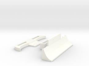 Mini-z Pan Car Bumper and Diffuser Kit in White Processed Versatile Plastic