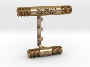 Punctuation - Minus & Underscore symbols in Polished Gold Steel