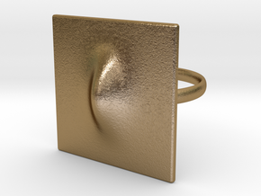 Squeeze Me Ring in Polished Gold Steel