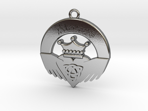 Claddagh Pendant in Polished Silver