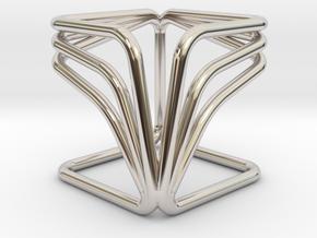 YOUCUBE R Pendant in Platinum