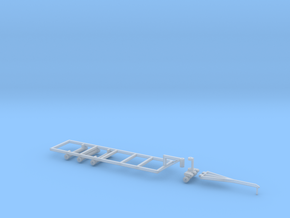 1/64 30' Double Header Trailer- Frame and Hitch in Smooth Fine Detail Plastic