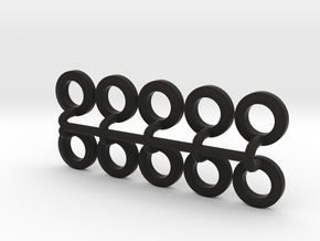 10 Tires for the Befort Double Header trailer in Black Strong & Flexible