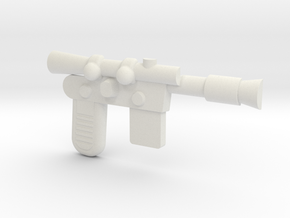 Han Blaster Full Size - (Right Half Only) in White Natural Versatile Plastic