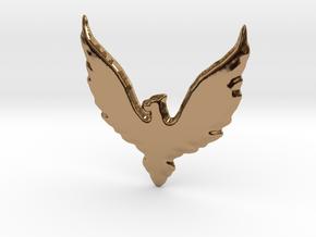Hawk insignia keychain. in Polished Brass