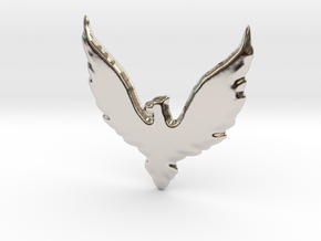 Hawk insignia keychain. in Rhodium Plated Brass