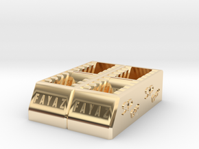 SD Card Holder that can hold 20 cards Sdcardhold20 in 14K Yellow Gold