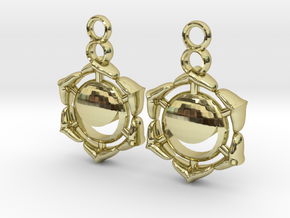Chakra Swadhisthana Sacral Earrings in 18k Gold Plated Brass