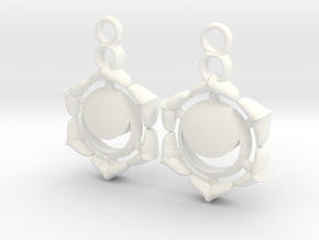 Chakra Swadhisthana Sacral Earrings in White Processed Versatile Plastic