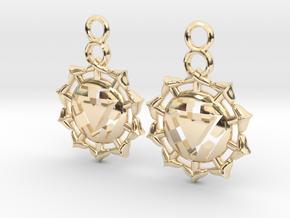Chakra Manipura Earrings in 14K Yellow Gold