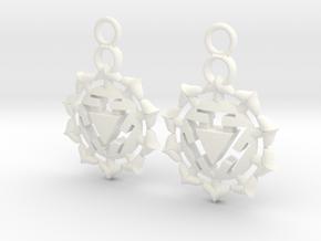 Chakra Manipura Earrings in White Processed Versatile Plastic
