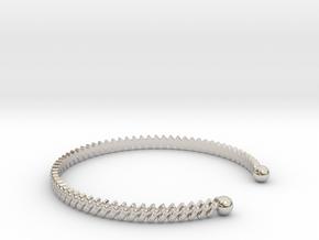 Ø2.283 inch Bracelet S  Ø58 Mm S in Platinum