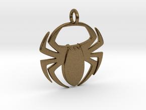 Spider Pendant in Natural Bronze