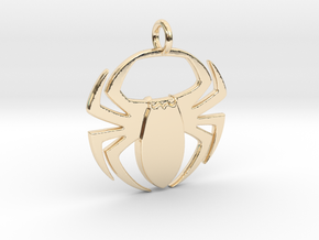 Spider Pendant in 14k Gold Plated Brass