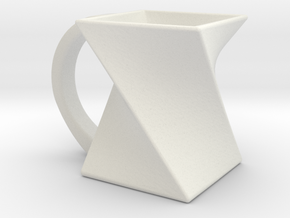 Twisting Mug in White Natural Versatile Plastic