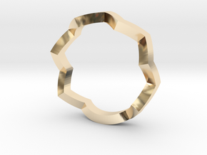 zig zag ring in 14K Yellow Gold